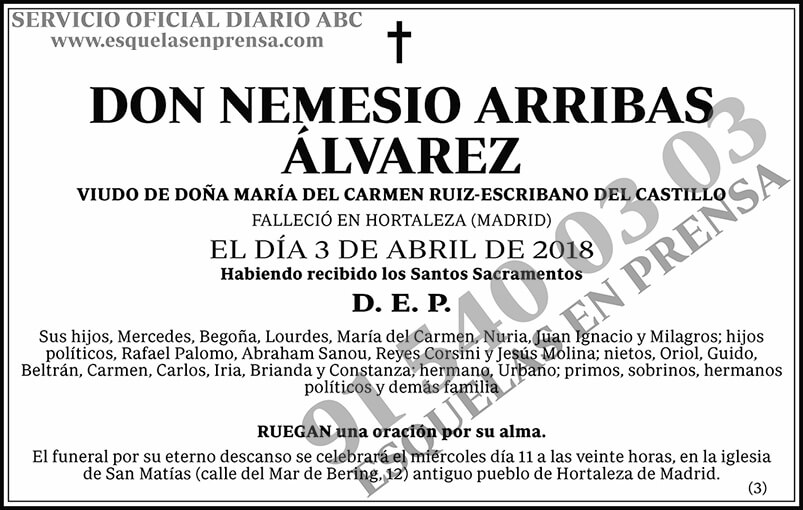 Nemesio Arribas Álvarez